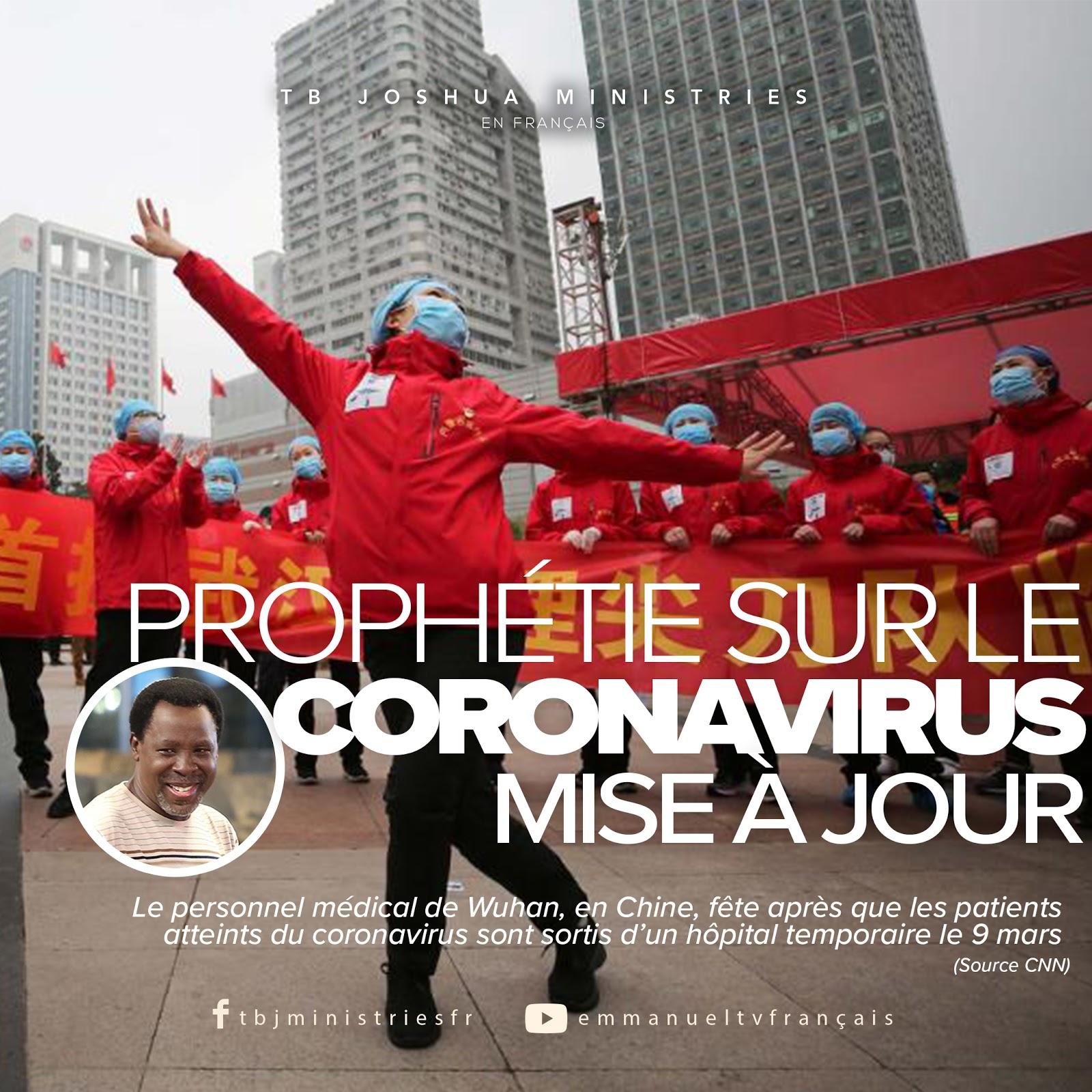 PROPHÉTIE SUR LE CORONAVIRUS (MISE À JOUR)
